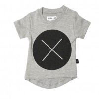 Huxbaby Circle Cross T shirt – Gray