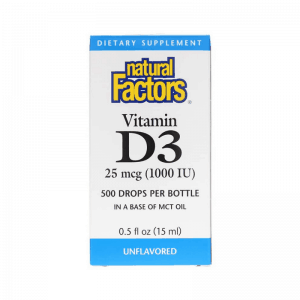 Natural Factors Vitamin D3 Drops